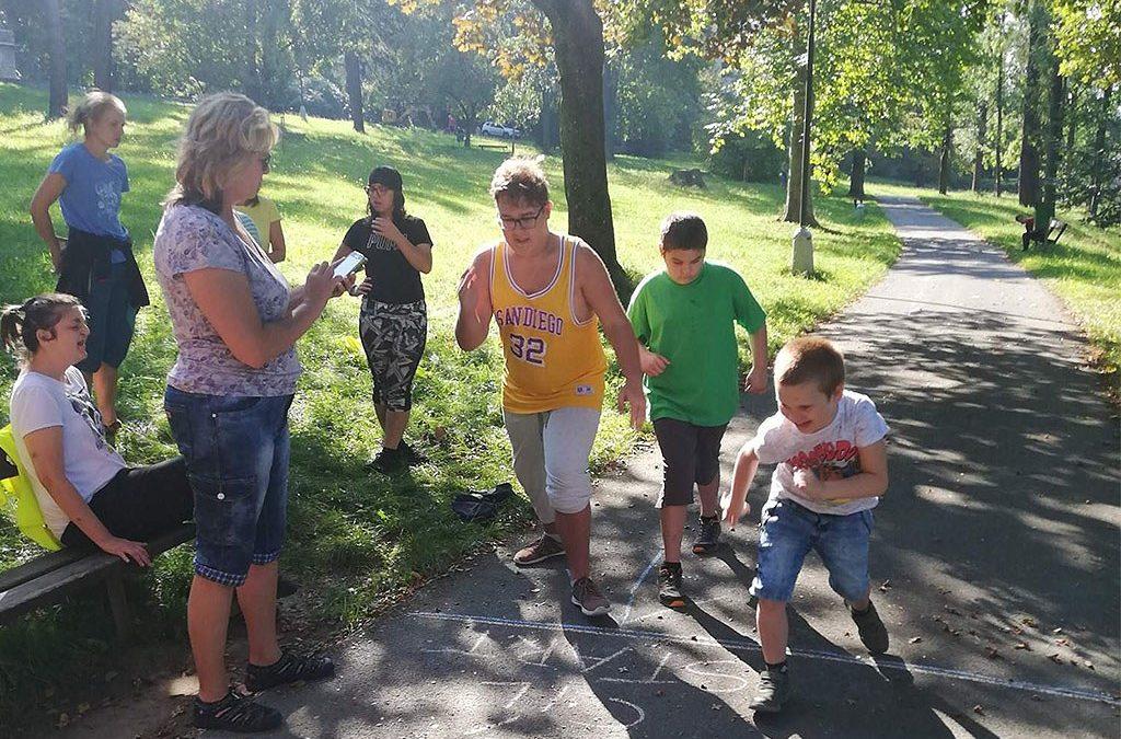 Běh v parku
