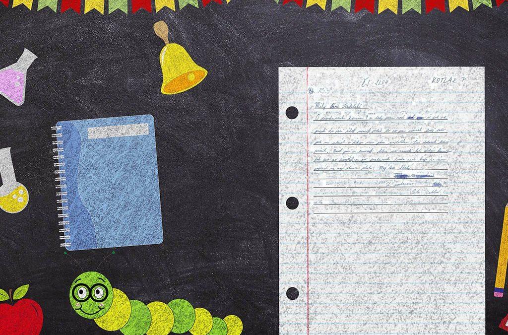 Žáci napsali dopis panu řediteli i pedagogům.