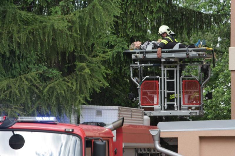 Taktické cvičení hasičů